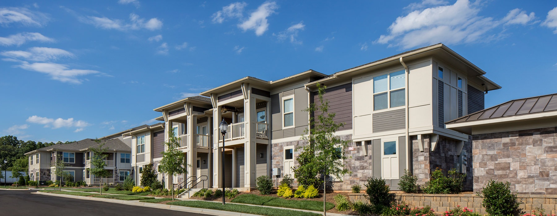 Legacy Village is a two-story apartment complex